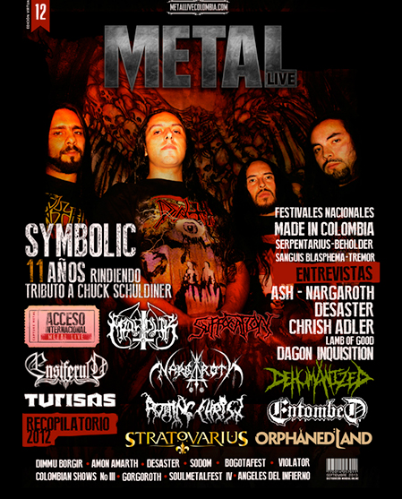 Decimo segunda edición revista virtual Metal Live Colombia