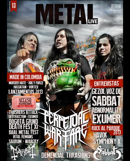 Décimo tercera edición revista virtual de Metal Live Colombia